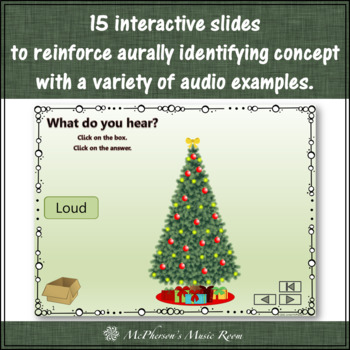 Christmas Music Game: Dynamics Loud Soft {Interactive} Decorate the Tree