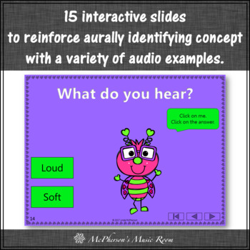 Loud or Soft Interactive Music Game and Assessment {Love Bug}