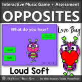 Valentine's Day Music: Loud Soft Interactive Music Game & Assessment {Love Bug}