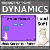 Spring Music Game: Dynamics Loud Soft Interactive Music Game {rabbit}