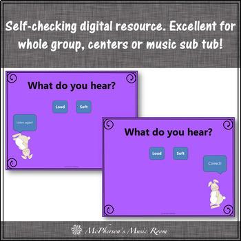 Spring Music Game: Dynamics Loud Soft Interactive Music Game {rabbit}