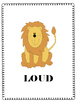 Loud and Soft - Listening Visuals & Worksheet