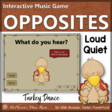 Thanksgiving Music Game Dynamics Loud and Quiet {Interactive} Turkey Dance