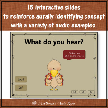 Thanksgiving Music Game Dynamics Loud and Soft {Interactive} Turkey Dance