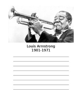Louis Armstrong Biography Poster
