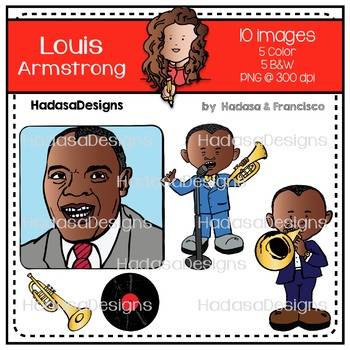 Louis Armstrong Clip Art Mini Combo Pack