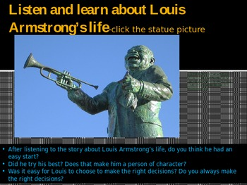 Louis Armstrong Integrated ELA, Music, Character Lessons