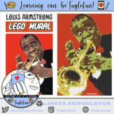 Louis Armstrong, Jazz Musician, Black History Collaborative Lego Mural