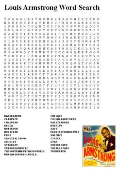 Louis Armstrong Word Search