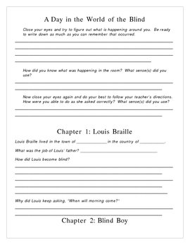 Louis Braille Book Packet