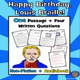 Louis Braille Reading Comprehension: Winter Reading Comprehension + Audiobook