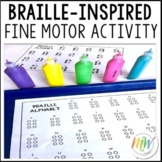 Louis Braille tactile/fine motor skill craft activity extension