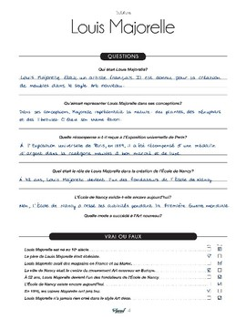 Louis Majorelle - text in French + activities