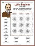 Louis Pasteur Word Search Puzzle