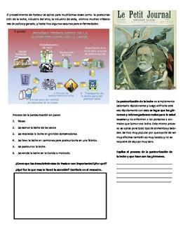 Louis Pasteur Worksheet Espanol