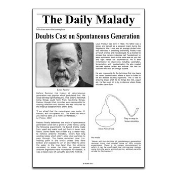 Science Literacy Louis Pasteur and Vaccines Sub Plan