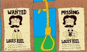 Canadian History Cartoon Louis Riel Hero vs Villain Metis Cartoon
