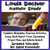 Louis Sachar Author Study, Biography, Reading Response, Activities, More
