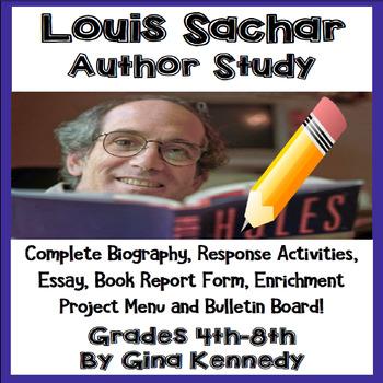 Louis Sachar Author Study, Biography, Reading Response, Ac
