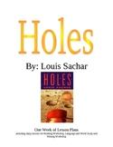 Louis Sachar Holes Lesson Plans