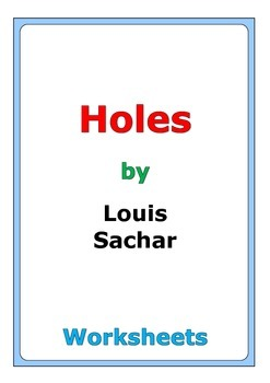 "Louis Sachar ""Holes"" worksheets"