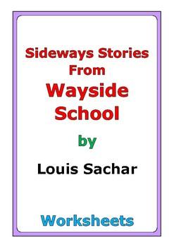 """Louis Sachar """"Sideways Stories From Wayside School"""" worksheets"""