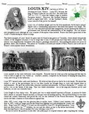 Louis XIV Sun King Biography and Questions