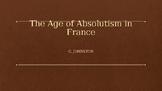"""AP EURO/AICE EURO Louis XIV 'Sun King"""" PowerPoint"""
