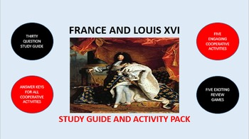 Louis XIV of France: Study Guide and Activity Pack