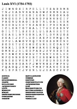 Louis XVI Word Search
