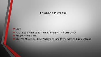Louis and Clark/ Louisiana Purchas
