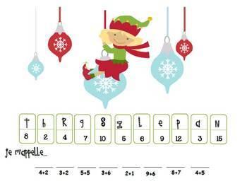 Louis le lutin visite la salle de classe: Holiday Themed Math and Literacy Unit