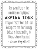Louisa May Alcott Encouragement Quote Poster, Library Art