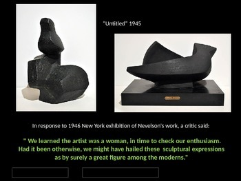 Louise Nevelson Assemblage Sculpture Project Powerpoint