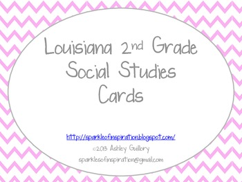 Louisiana 2nd Grade Social Studies GLE Cards Pink Theme