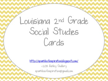 Louisiana 2nd Grade Social Studies GLE Cards Yellow Theme