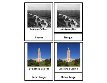 Louisiana 3 Part Cards