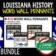 Louisiana Antebellum Period Word Wall Pennants (Louisiana History)