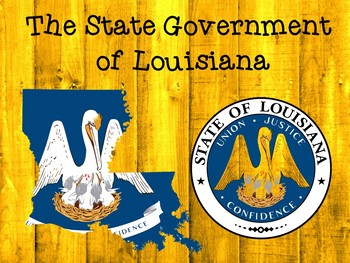 Louisiana Branches of Government Vocabulary Presentation & Game