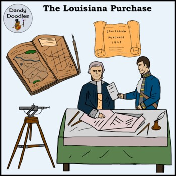 The Louisiana Purchase Clip Art by Dandy Doodles