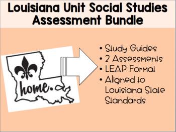 Louisiana Culture Unit Assessment Bundle