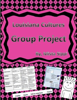 Louisiana Cultures Group Project with Exemplars