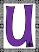 Louisiana Decorative Bulletin Board Letters (Purple)
