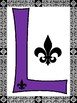 Louisiana Decorative Bulletin Board Letters (Purple)