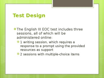 Louisiana EOC English III Test Overview and Previous Questions ***FREE***