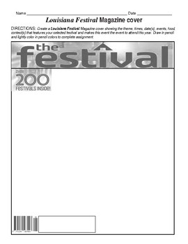 Louisiana Festival worksheets