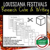 Louisiana Festivals Activity Research Cube with Writing Extension Activity Pack