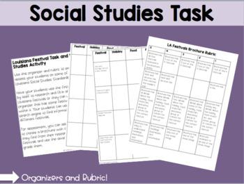 Louisiana Festivals Social Studies Task