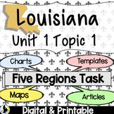 3rd Grade Louisiana Social Studies 5 Regions Unit 1 Topic 1 (Part B)