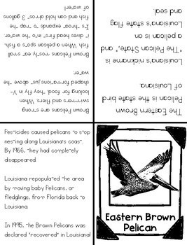 Louisiana Symbols Foldable Books